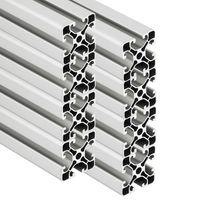 PremiumX 8x 2000mm Aluminium Profil Aluprofil 40x40 mm Nut 8 Strebenprofil eloxiert