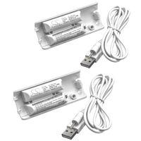 vhbw 2x Akku kompatibel mit Nintendo Wii U Remote Plus Gamepad Controller (400mAh, 2,4V, NiMH)