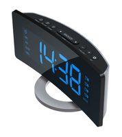 Radiowecker mit UKW Radio Jumbo Display 4 Weckzeiten Design Uhrenradio ROXX CR301