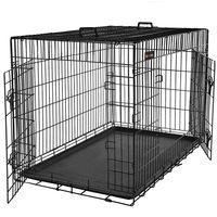 FEANDREA Hundekäfig | XL 91 x 64 x 58 cm | Hundebox faltbar 2 Türen | Drahtkäfig | Gitterbox | Transportbox für Katzen/ Hasen/ Nager/ Kaninchen/ Geflügel schwarz PPD36H