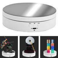 Drehbarer Elektrischer Rotierender Displayständer Drehteller für Schmuckuhren Farbe Weiß