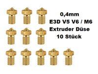 10X M6 0.4mm Messing 3D Drucker Düse Druckkopf M6 Gewinde Düse für 1.75mm ABS PLA Filament i3 Mega Mega-S