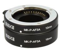 "Automatik Zwischenringe ""2-teilig 10mm & 16mm"" fuer Makrofotographie passend zu Panasonic DSLR (Micro Four Third) **METALL KONTAKT**"