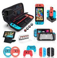 Geeignet für die Aufbewahrung der Nintendo Switch-Spielekonsole mit vier Ecken und einer tragbaren Schutztasche Switch Accessories Bundle mit Tasche
