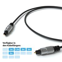 JAMEGA - 2m Optisches Kabel Toslink Digital-Audiokabel | LWL Lichtwellenleiter DTS SPDIF Digital kompatibel mit Soundbar, Home Entertainment, HiFi-System, Blue-Ray-Player, Heimkino, PS4, XBOX uvm.