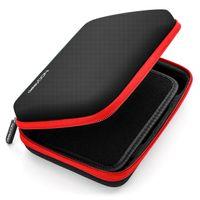 deleyCON Navi Tasche Navi Case Tasche für Navigationsgeräte - 6 Zoll & 6,2 Zoll (17x12x4,5cm) - Robust & Stoßsicher - 1 Innenfach - Schwarz Rot