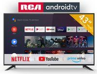 RCA RS43F2 Android TV (43 Zoll Full HD Smart TV mit Google Assistant), eingebauten Chromecast, HDMI+USB, Triple Tuner, 60Hz