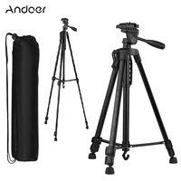 Andoer 135cm Stativ Kamera Stativ Kamera Dreibein Tripod Aluminium für Handy Halterung Lightweight Tripod Ständer 3kg Belastbarkeit max