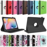 Tablet Hülle für Samsung Galaxy Tab A7 2020 Schutzhülle Tasche Cover 360 Drehbar, Farben:Schwarz