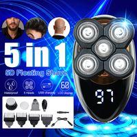 5 Köpfe Herren Elektrorasierer Schädelrasierer USB für Kopf Glatze und  .