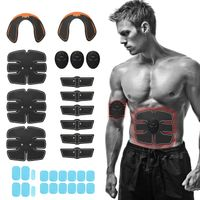 32 Stueck EMS Ultimate Muskelstimulator Trainingsausruestung Huefttrainer Set Fitnessgeraete Fit Ganzkoerper,Black