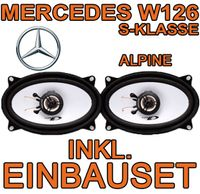Mercedes S-Klasse W126 - Lautsprecher - Alpine SXE-4625S - 4x6 Koax-System