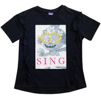 Trolls - Sing T-Shirt für Mädchen PG1515 (146-152) (Schwarz)