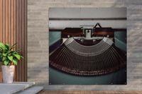 Gartenposter - Schreibmaschine - Retro - Briefe - 200x200 cm