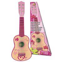 Bontempi Kinder-Gitarre mit 6 Saiten Holz Rosa 55 cm