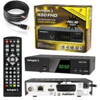 morgan´s K50 Full HD DVB-C Kabel-Receiver digital für Kabelempfang (HDMI, USB 2.0, PVR, LAN, Scart, Mediaplayer), schwarz, z.B. für Kabel Deutschland oder Unitymedia, inkl. HDMI Kabel