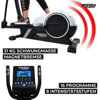 Miweba Sports Crosstrainer MC300, 21 kg Schwungmasse, für zuhause geeignet (Weiß/Schwarz)