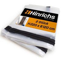 Hinrichs 2 x Staubschutztür mit Reißverschluss 220 x 120 cm - transparent