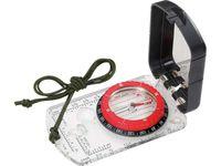Herbertz-Plattenkompass, flüssigkeitsgedämpfte Kapsel, 360 Grad Einteilung, transparente Grundplatte, Klinometer