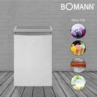Bomann Stand Gefrierschrank GS 2186.1 inox-look 85 Liter