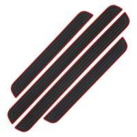 4pcs/set Auto Einstiegsleisten Aufkleber,Universal Autotür Schutz,Anti Scratch Abdeckung ,Autotür Schutz Kratzfeste,Türeinstiege Schritt Platte
