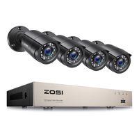 ZOSI 8CH 1080P H.265+ DVR mit 4x FHD 2MP Außenkamera Videoüberwachung System ohne Festplatte, 24M IR Nachtsicht