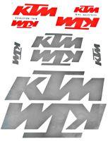 10-teiliges KTM Aufkleber Set orange / silber Motorrad Fahrrad 10 Stück A4 Bogen