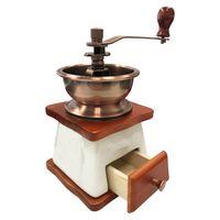 Keramik-Kaffeemühle mit Kegelmahlwerk im Retro-Stil