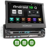XOMAX XM-DA775: 1DIN Autoradio mit Android 10 Navi 7 Zoll Touchscreen Monitor, Bluetooth, DVD, CD, SD und USB