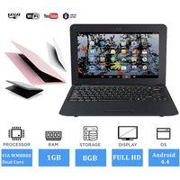 10 Zoll Ultra HD Mini Laptop Android Notebook Netbook PC Ultrabook HDMI USB 8G - Schwarz