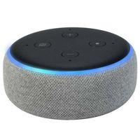 Amazon Echo Dot 3.Generation intelligenter Lautsprecher mit Alexa Sprachsteuerung Hellgrau Stoff