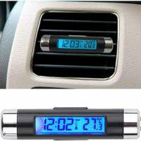 Miixa Mini KFZ LCD Digitales Innen- und Außen UHR Thermometer für PKW Auto LKW KFZ