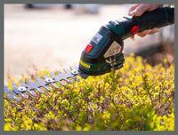 12V Akku Grasschere und Strauchschere Hekenschere mit Pflanzensprüh Aufsatz