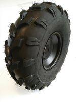 Komplettrad Felge Reifen 3-Loch 18x9,5-8 schwarz Offroad Bereifung hinten rechts für Quad ATV