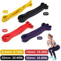 4 Stück 2080*4.5mm Fitnessbänder Widerstandsband Übungsband Gymnastik Sport Gummiband