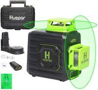 Huepar B02CG rotationslaser Lasermessgeräte, 2 x 360 Kreuzlinienlaser Grüner Selbstnivellierenden Laser Level, Zwei 360°-Laserlinie messtechnik