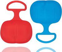 2er Set Schlitten Bob blau & rot - für Kinder zum Porutschen & Schlittenfahren