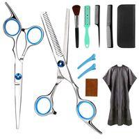 Haarschere, Profi Haarschere Sets, Edelstahl Friseurscheren Friseurscheren aus Edelstahl zum Ausdünnen und Strukturieren, Modellieren Professionelle Friseur-Sets