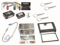 Autoradio Einbauset für Audi TT 8J 2-DIN Radioblende Antennen Adapter Kabel