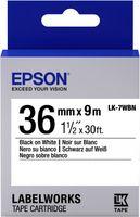 Epson Etikettenkassette LK-7WBN - Standard - schwarz auf weiß - 36mmx9m, Schwarz auf weiss, Japan, LabelWorks LW-1000P LabelWorks LW-900P, 3,6 cm, 9 m, 1 Stück(e)