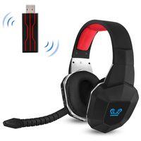 HW-N9U Kabelloses Gaming-Headset 2,4 GHz Optischer Gaming-Kopfhoe rer Virtueller 7.1-Kanal-Surround-Sound-Gaming-Headset fuer PS4 / PC / Mac