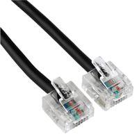 Hama - 44563 ISDN-Anschlusskabel, Modular-Stecker 8p4c - Modular-Stecker 8p4c, 3 m