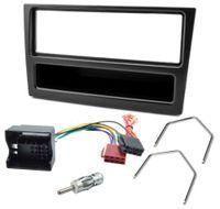 Radioblende Einbauset für OPEL Astra G Corsa C Vectra C Zafira A schwarz mit Quadlock ISO Adapter