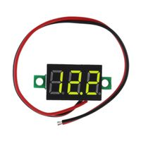 1 Stück LED Digital Voltmeter 黄色 Gelb 28x15mm