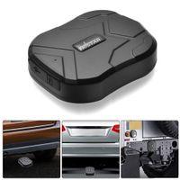TK905 Wasserdichter kabelloser GPS-Tracker für die Fahrzeugmontage Starker magnetischer GPS-Ortungs-Ortungsfinder für Autos Auto-Diebstahlwarngerät Anti-Verlust-Diebstahlsicherung (schwarz)
