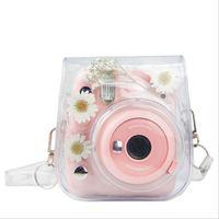 Tragbare Kameratasche, Transparente Kamera Case mit Schultergurt für Instax Mini 11/9/8 Kameras