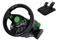 Kabalo Gaming Vibration Racing Steering Wheel (23cm) and Pedals for XBOX 360 PS3 PC USB [Gaming Vibration Racing-Lenkrad (23cm) und Pedale für die XBOX 360 PS3 PC USB]