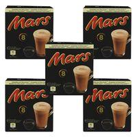Mars Pods Getränkepulver, Kakaogetränk 5er Set, Schokogetränk, Mars Riegel, Dolce Gusto kompatibel, Kaffeekapseln, 5 x 8 Kapseln