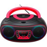 Denver Boombox Radio TCL-212BT, CD, Bluetooth, USB, Farbe: Pink