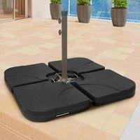 Schirmständer Gewicht befüllbar bis 130 kg Sonnenschirm Schirmgewicht Schirmständer Beschwerungsplatten Sonnenschirmständer Ampelschirm